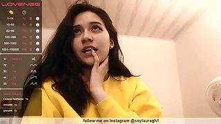 Nice amateur brunette on webcam show