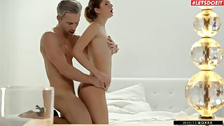 Small tits Candice Demellza moans during passionate sexual congress