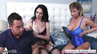 Two big tittied whores bang pretty married guy Eva Notty coupled with Bella Maree