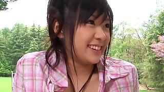 Libidinous Japanese yammy gal sizzling sex videotape