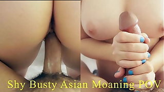 Backward Big Boob Asian Really Stingy Pussy Moaning Coupled with Crying That She's Cumming On Big Cock. Sexy Japanese Round Ass. English-Spanish Subtitles, POV