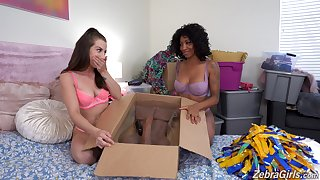 Wild interracial troika with September Reign and Spencer Bradley