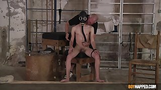 Serious joyful maledom for naked twink on touching his 20s