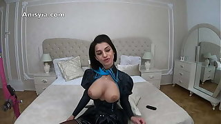 Anisyia 4k Hentai Latex Cosplay Tits fuck Blowjob and Penetration