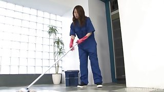 Stunning Japanese maid can't wait to please their way boss more the office