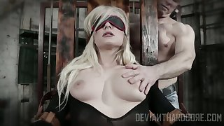 Brutal dude ties up light-complexioned Dahlia Sky increased by fucks her mouth devoid of mercy