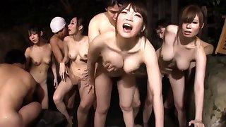 Alluring Asian babe Erika Kitagawa in hot group sex